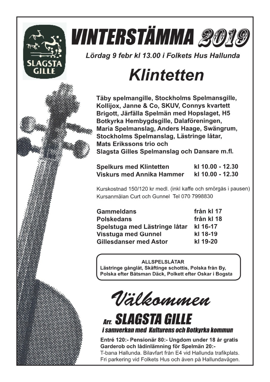 Mats Lundblads kalender folkmusikdans gada.se